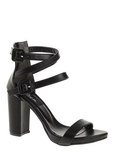 Derigo Kalın Topuklu Abiye Ayakkabı Siyah